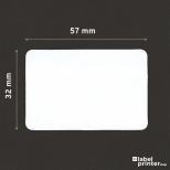 Dymo 11354 compatible labels, 57 x 32mm, 1000 etiketten