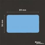 Dymo 99012 compatible labels blauw, 36 x 89mm, 260 etiketten