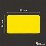 Dymo 99012 compatible labels geel, 36 x 89mm, 260 etiketten