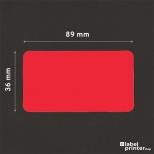 Dymo 99012 compatible labels rood, 36 x 89mm, 260 etiketten